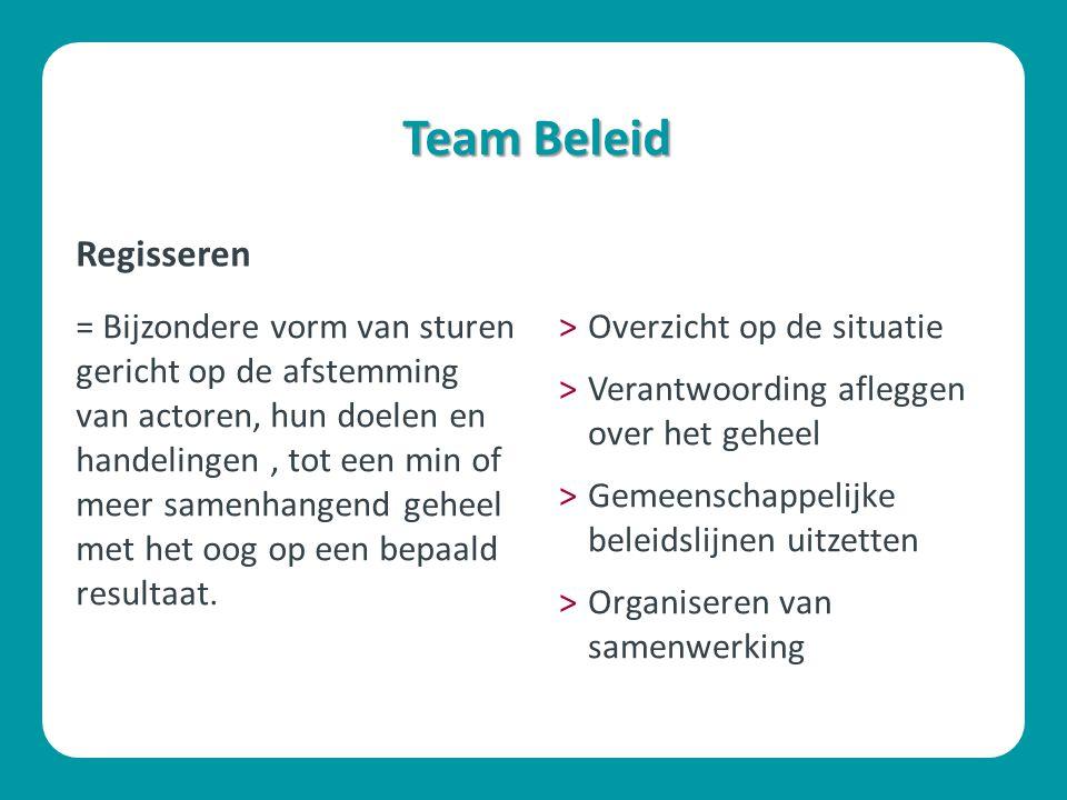 Team Beleid Regisseren