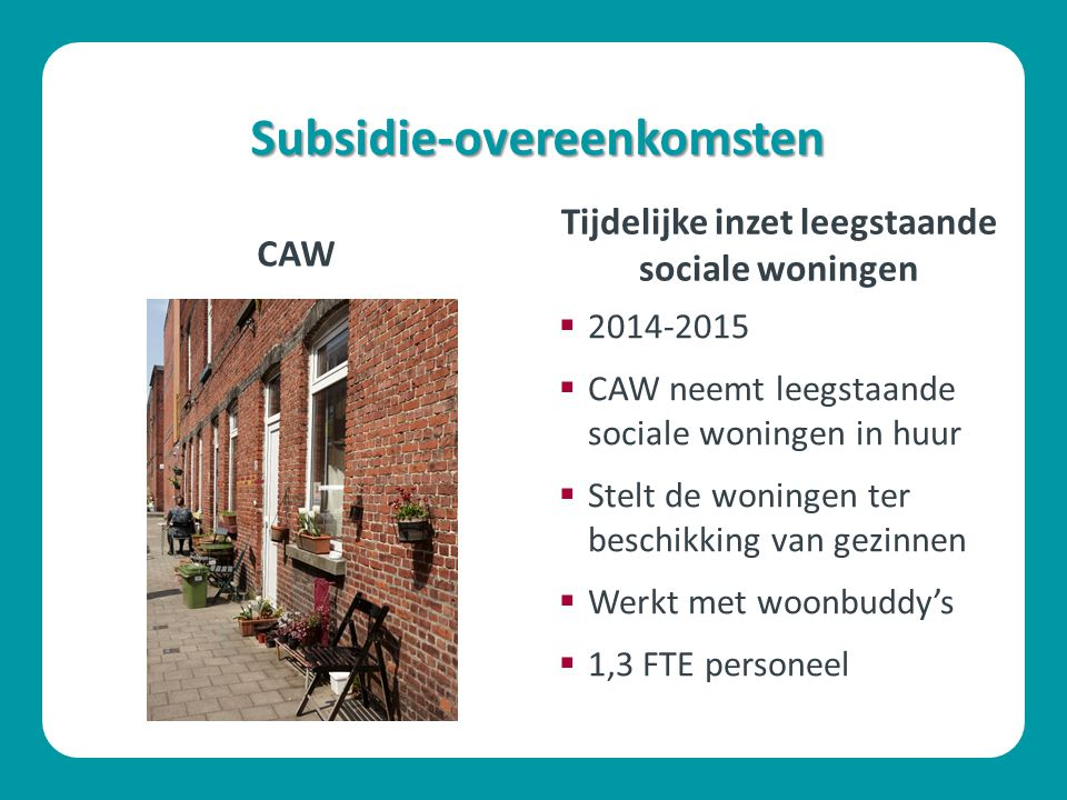 Subsidie-overeenkomsten