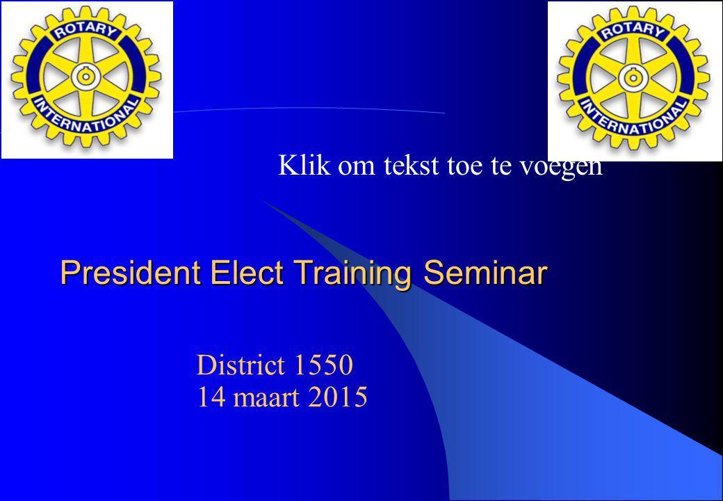 President Elect Training Seminar