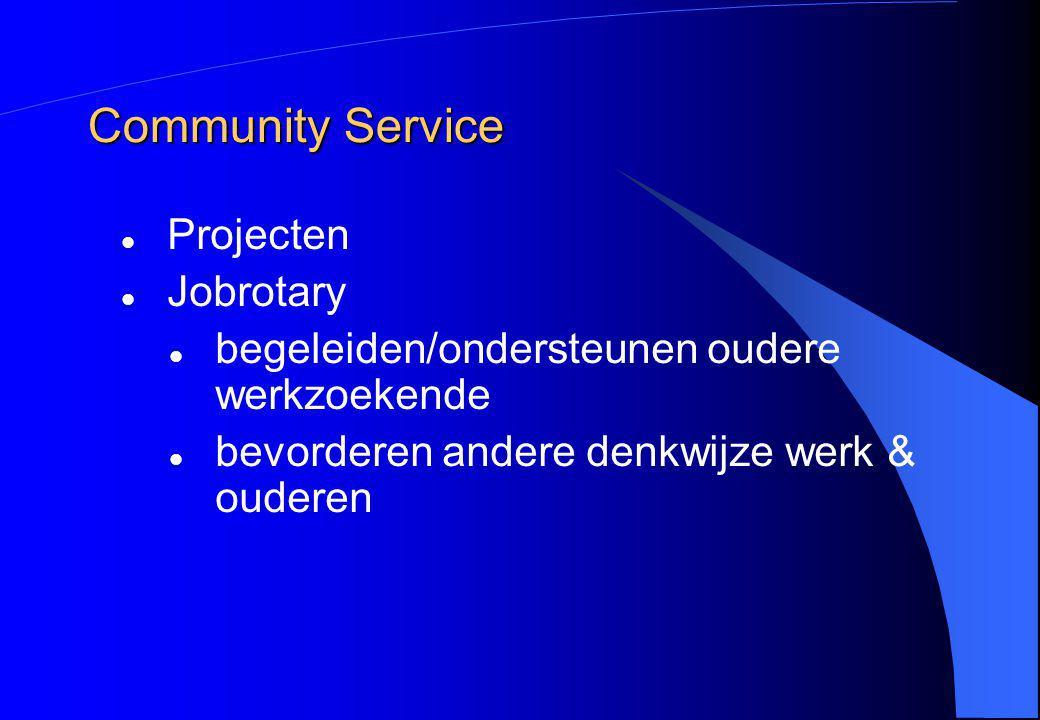 Community Service Projecten Jobrotary