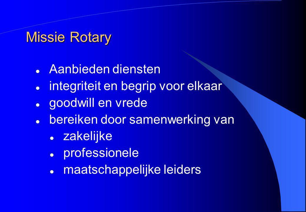 Missie Rotary Aanbieden diensten integriteit en begrip voor elkaar