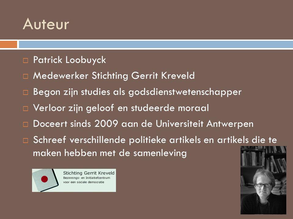 Auteur Patrick Loobuyck Medewerker Stichting Gerrit Kreveld