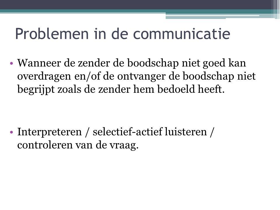 Problemen in de communicatie