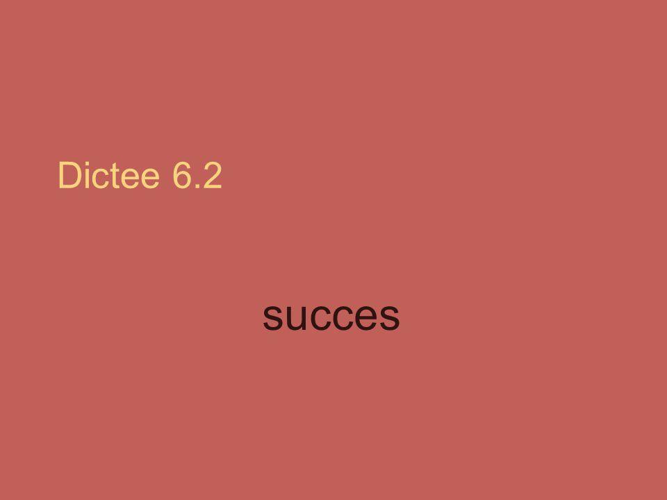 Dictee 6.2 succes