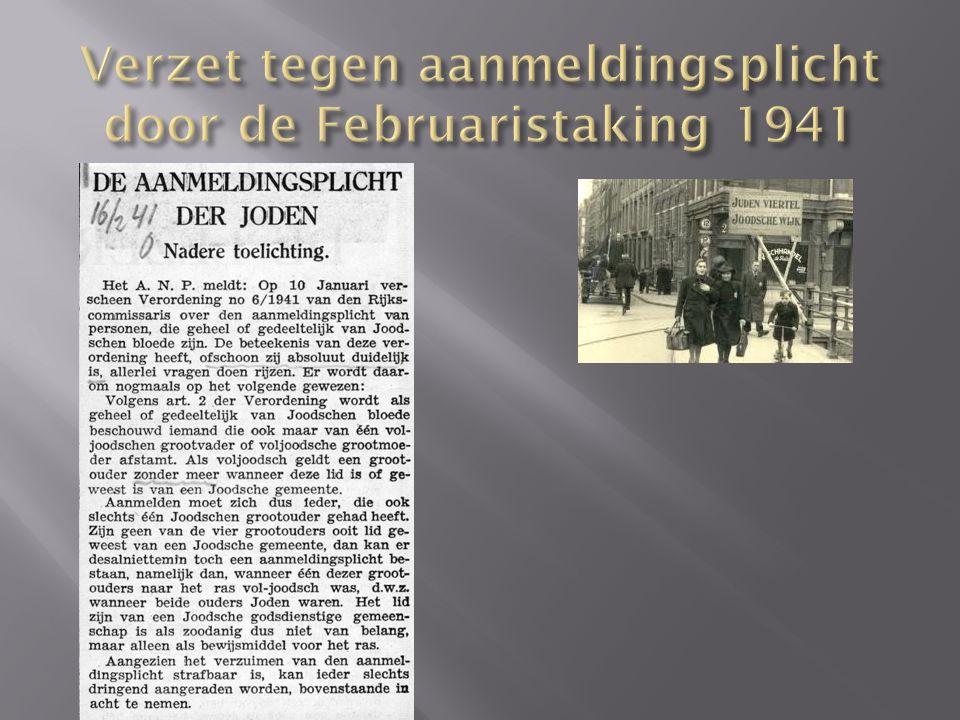 Verzet tegen aanmeldingsplicht door de Februaristaking 1941