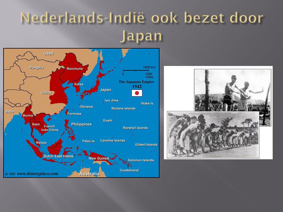 Nederlands-Indië ook bezet door Japan