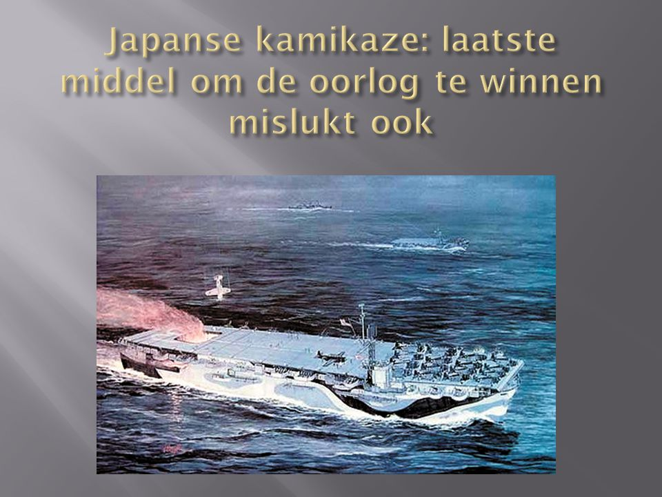 Japanse kamikaze: laatste middel om de oorlog te winnen mislukt ook