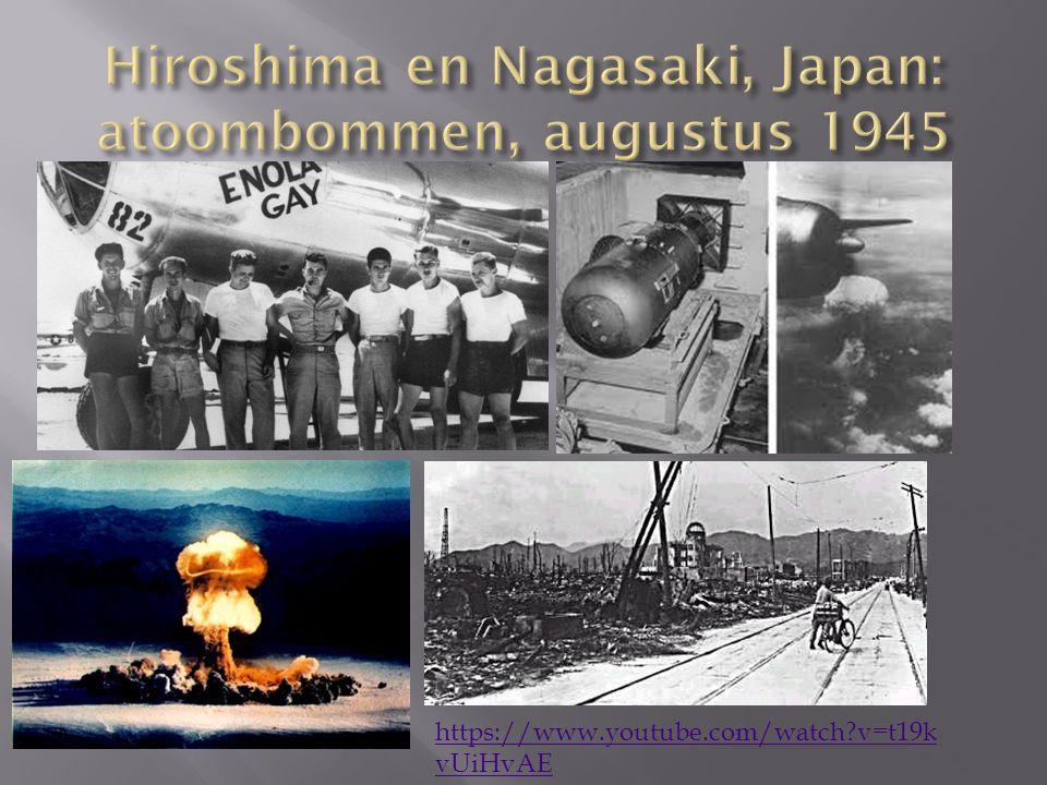 Hiroshima en Nagasaki, Japan: atoombommen, augustus 1945