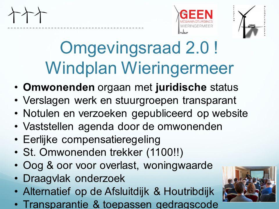 Omgevingsraad 2.0 ! Windplan Wieringermeer