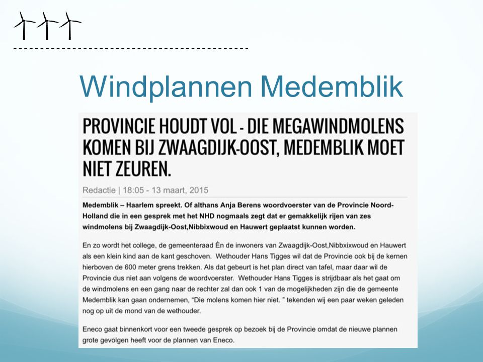 Windplannen Medemblik