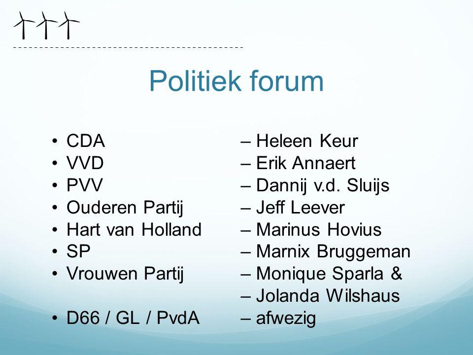 Politiek forum CDA – Heleen Keur VVD – Erik Annaert