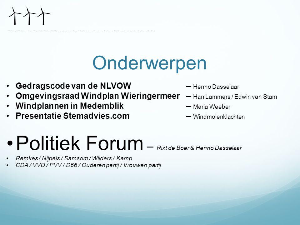 Politiek Forum – Rixt de Boer & Henno Dasselaar