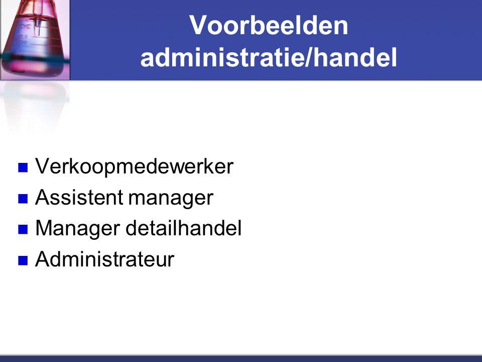 Voorbeelden administratie/handel