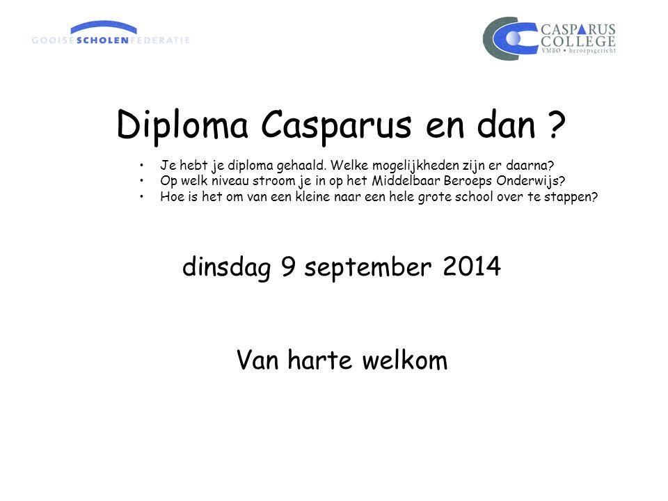 Diploma Casparus en dan