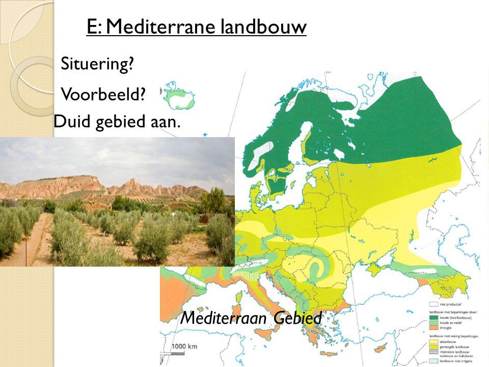 E: Mediterrane landbouw