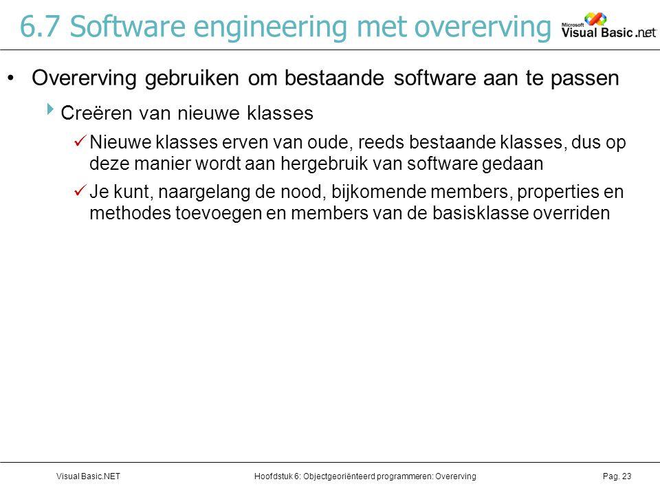 6.7 Software engineering met overerving