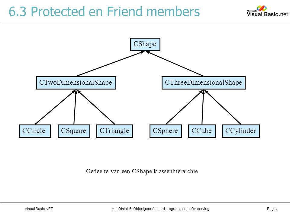 6.3 Protected en Friend members