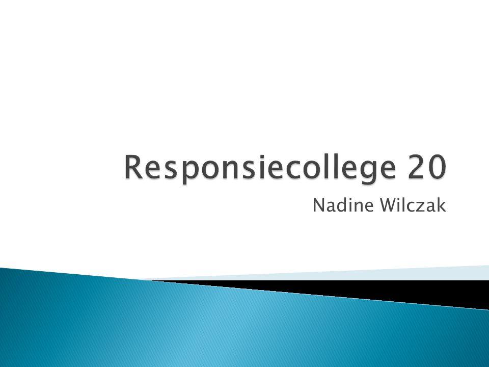 Responsiecollege 20 Nadine Wilczak