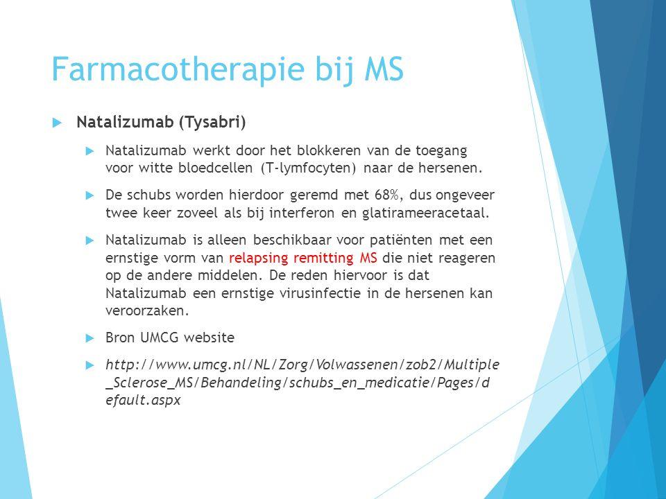 Farmacotherapie bij MS