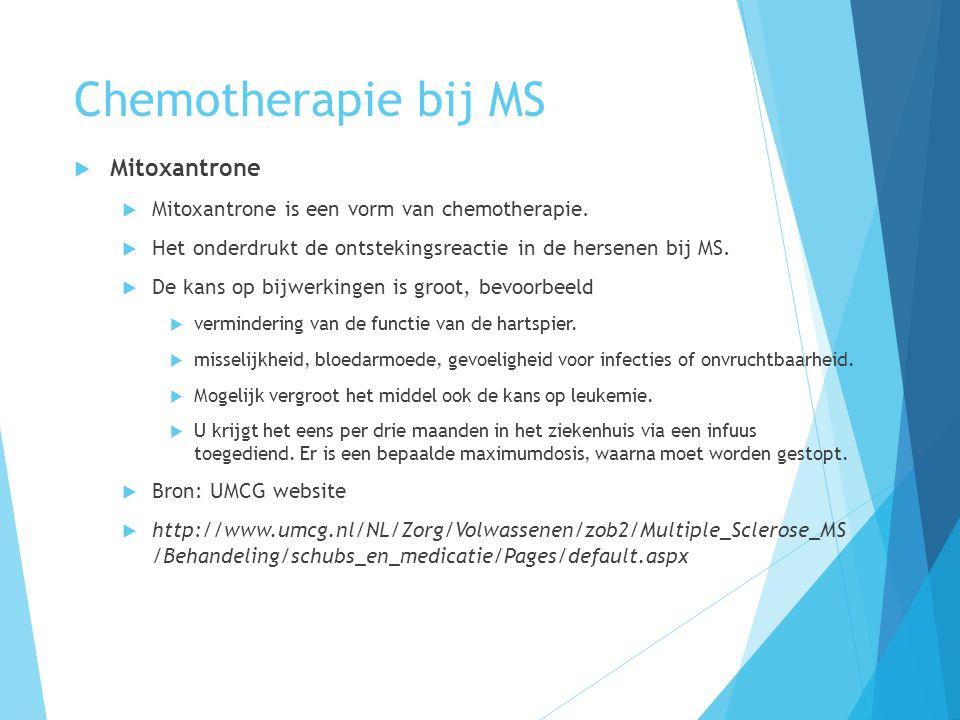 Chemotherapie bij MS Mitoxantrone