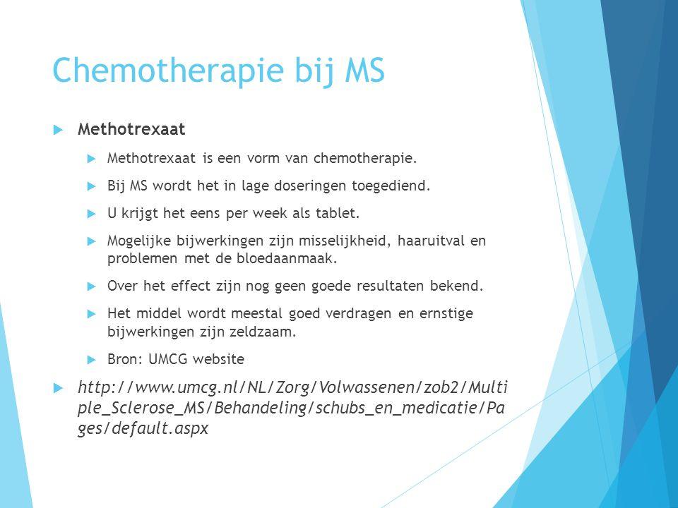 Chemotherapie bij MS Methotrexaat