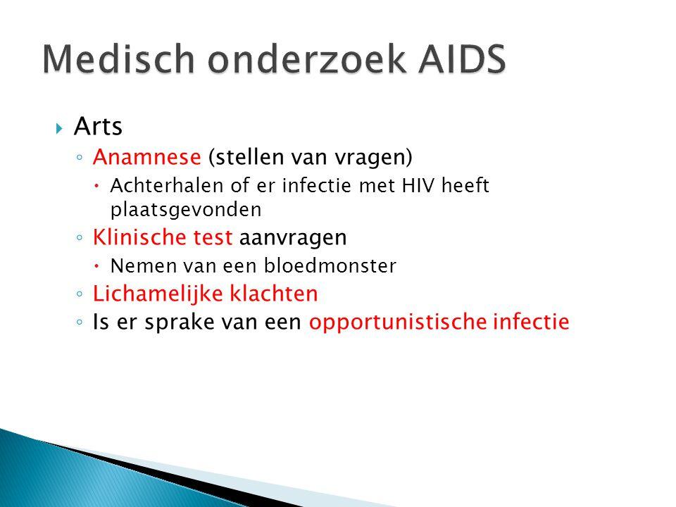 Medisch onderzoek AIDS