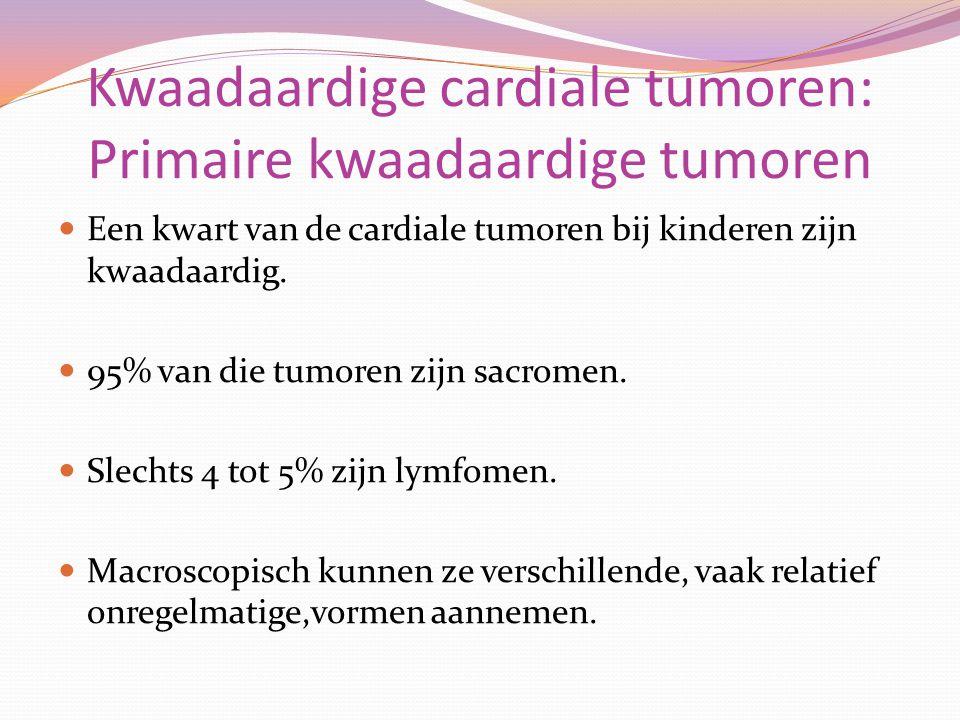 Kwaadaardige cardiale tumoren: Primaire kwaadaardige tumoren