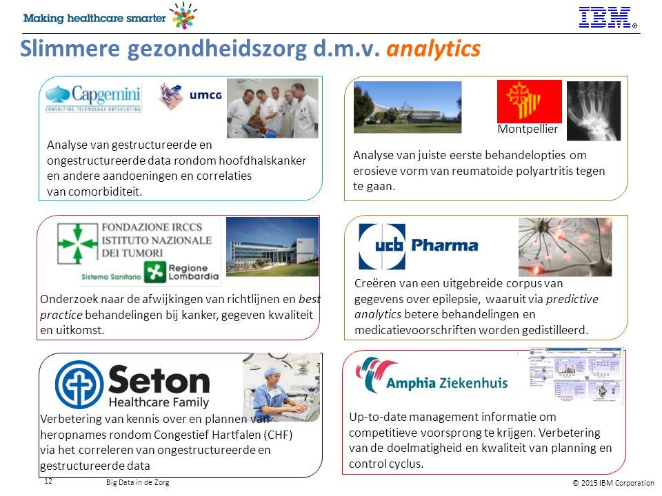 Slimmere gezondheidszorg d.m.v. analytics