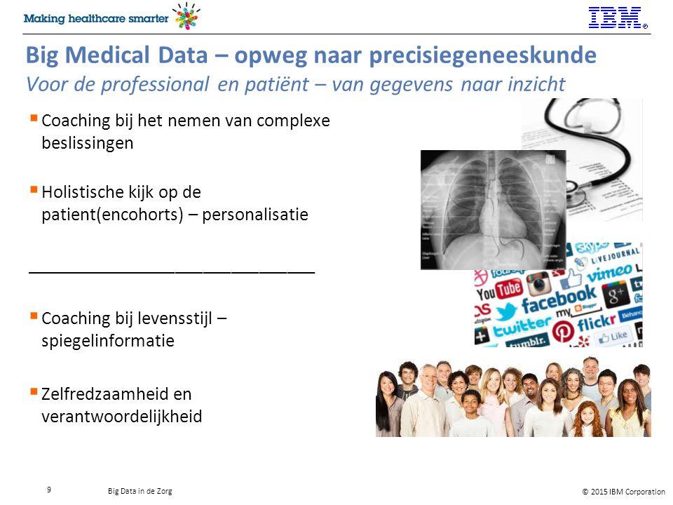 Big Medical Data – opweg naar precisiegeneeskunde Voor de professional en patiënt – van gegevens naar inzicht