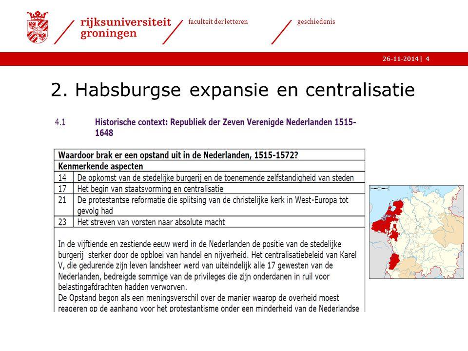 2. Habsburgse expansie en centralisatie