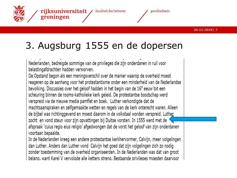 3. Augsburg 1555 en de dopersen