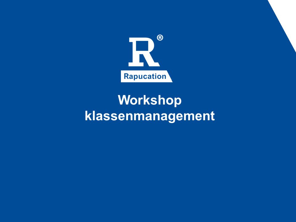 Workshop klassenmanagement