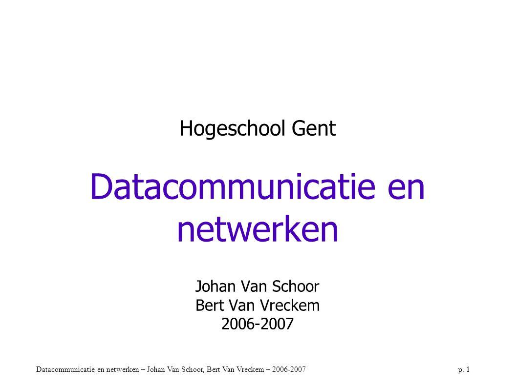Datacommunicatie en netwerken