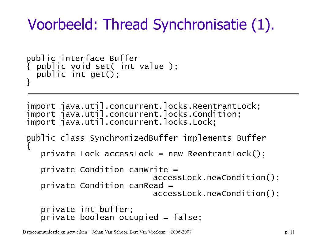 Voorbeeld: Thread Synchronisatie (1).