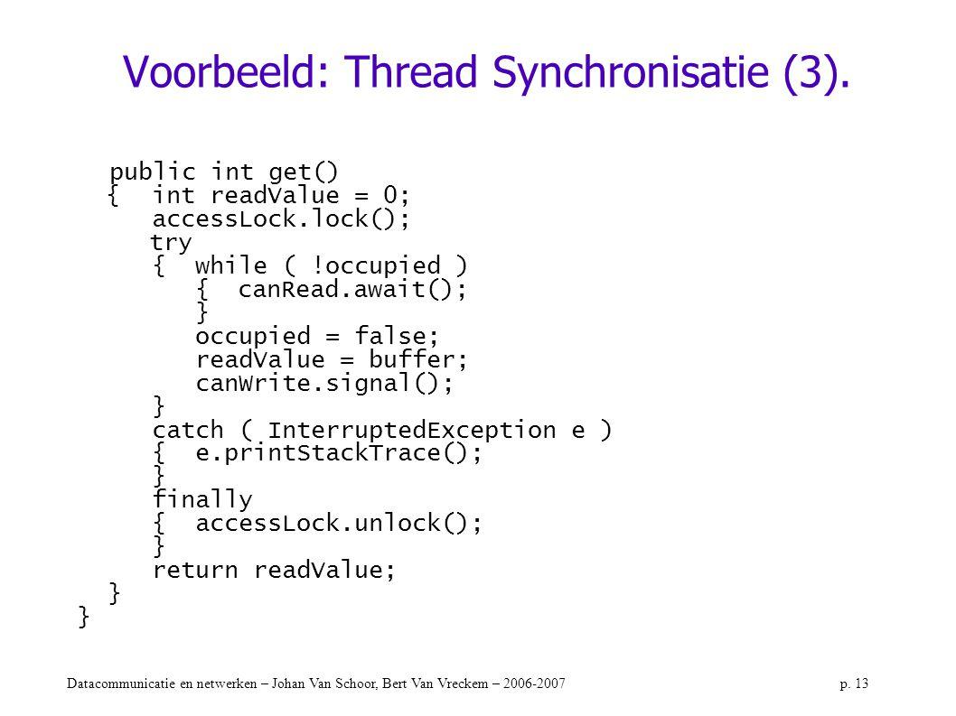 Voorbeeld: Thread Synchronisatie (3).