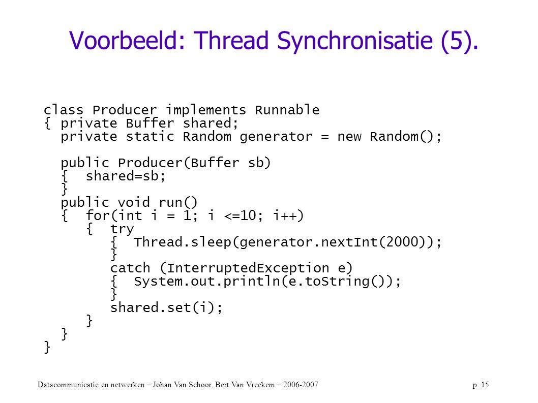 Voorbeeld: Thread Synchronisatie (5).