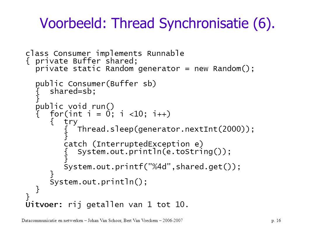 Voorbeeld: Thread Synchronisatie (6).