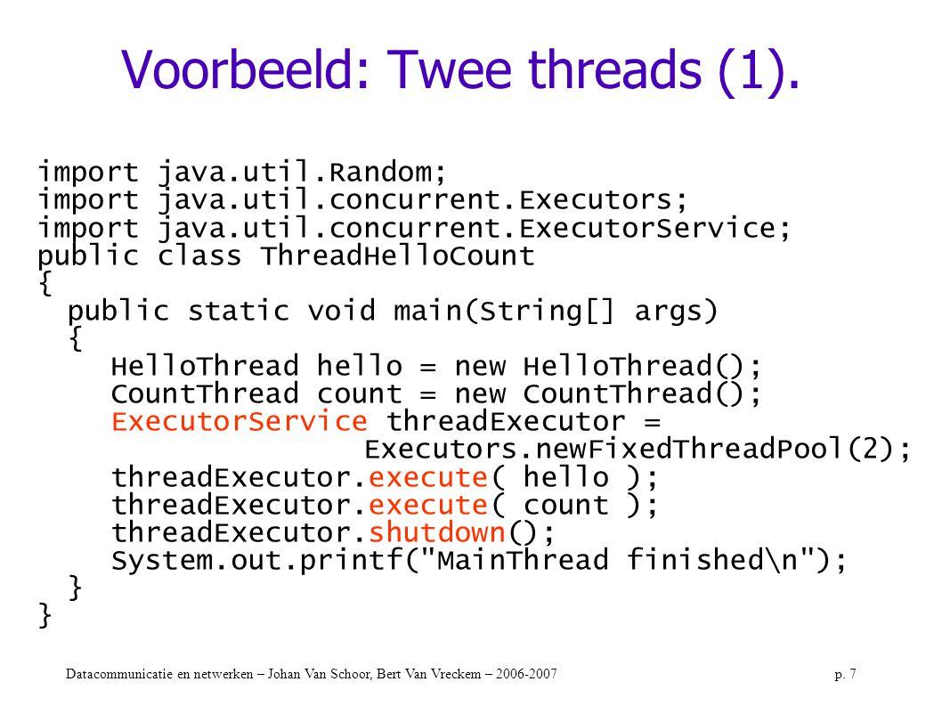 Voorbeeld: Twee threads (1).