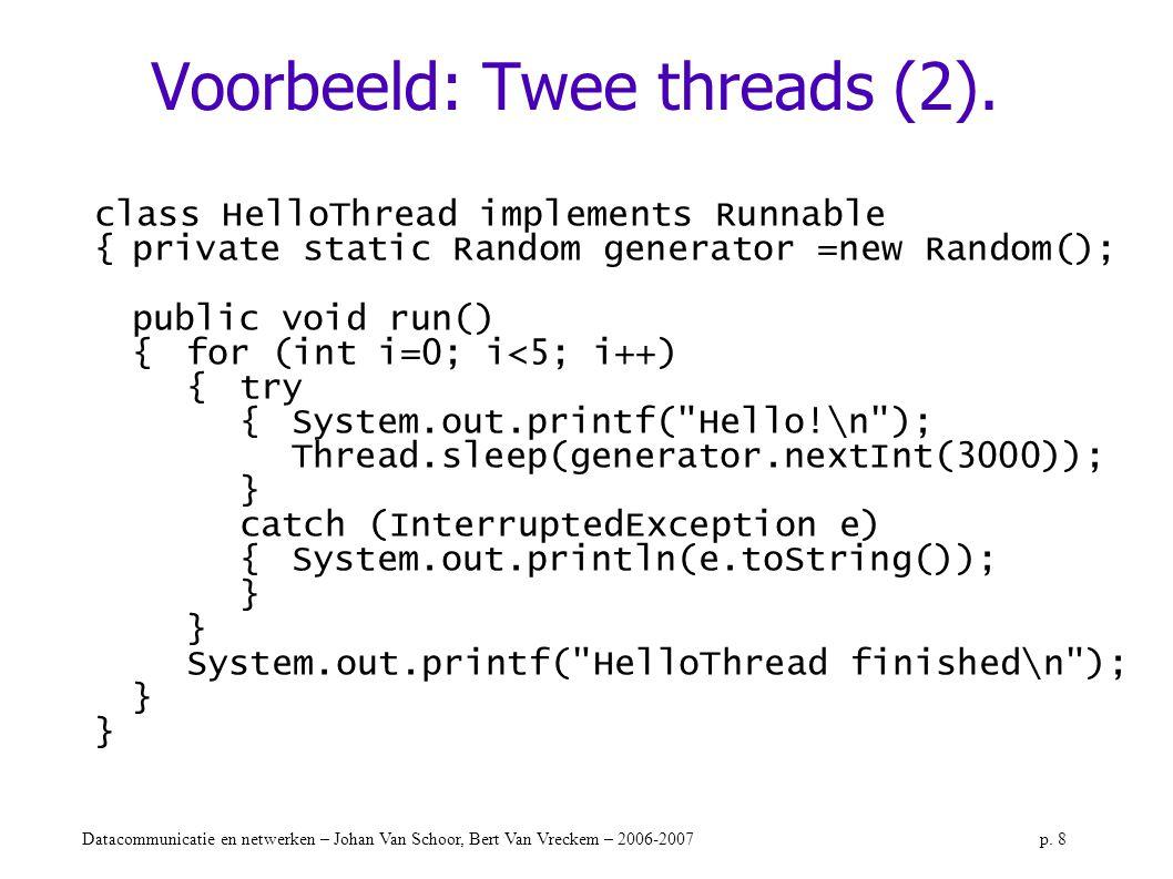 Voorbeeld: Twee threads (2).