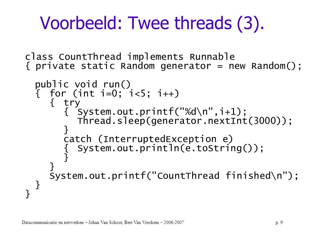 Voorbeeld: Twee threads (3).