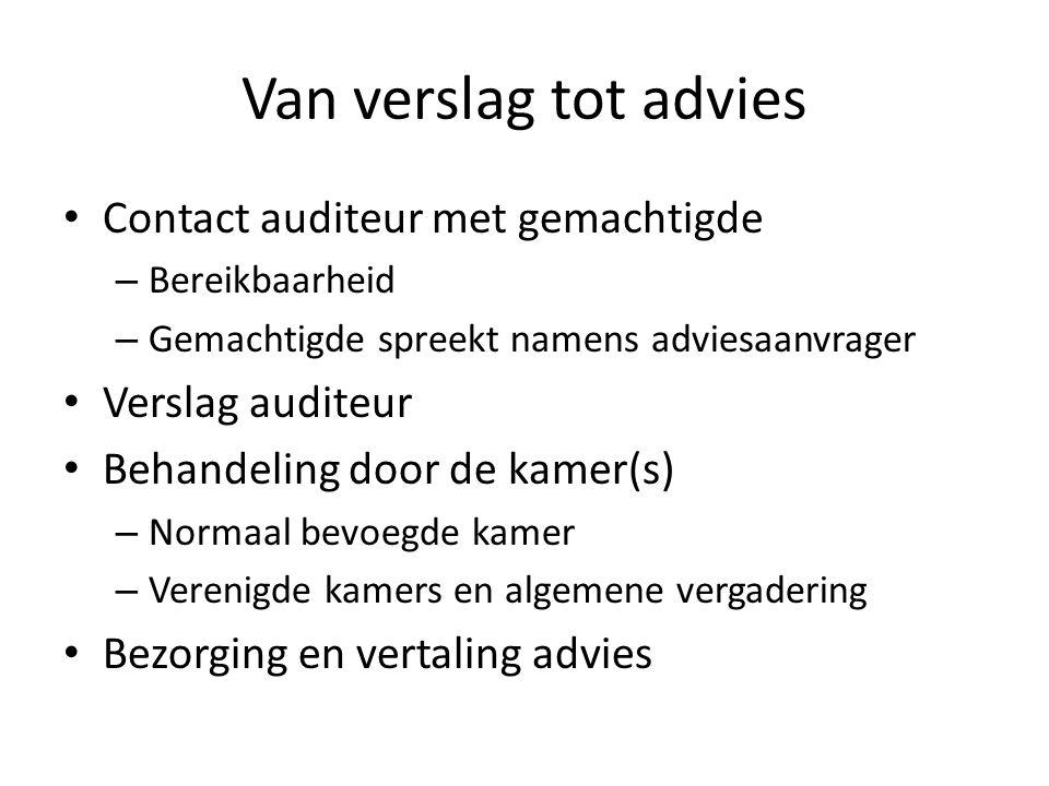 Van verslag tot advies Contact auditeur met gemachtigde