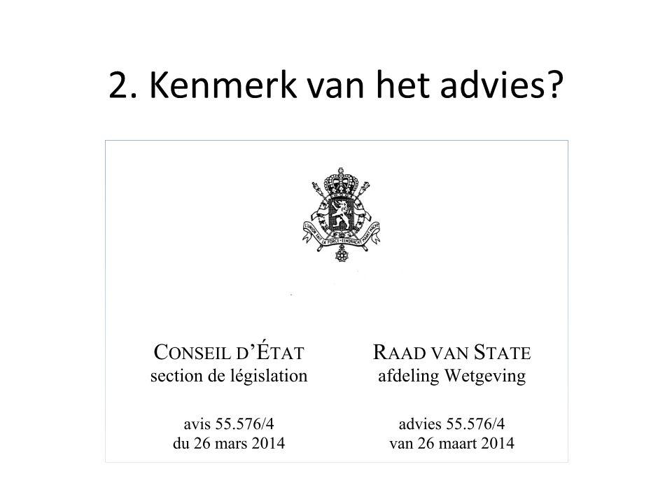 2. Kenmerk van het advies