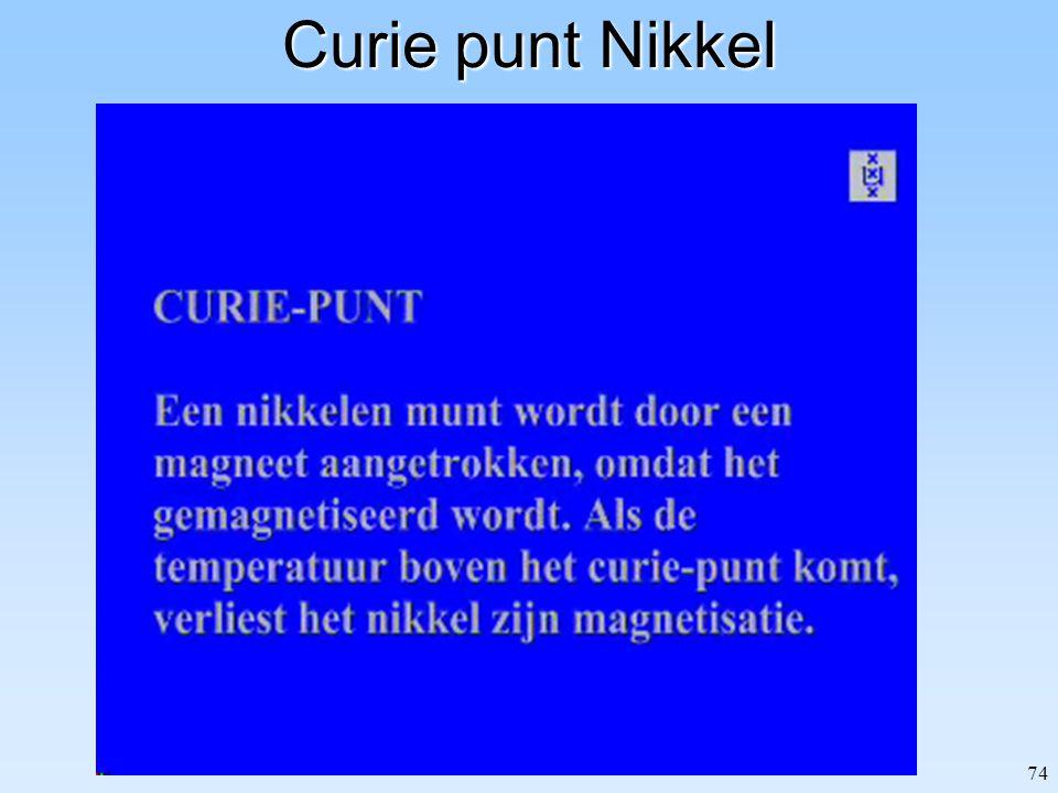 Curie punt Nikkel