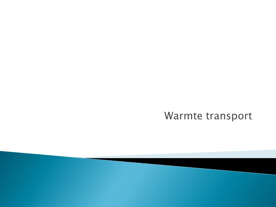 Warmte transport