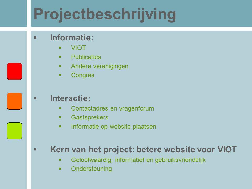 Projectbeschrijving Informatie: Interactie: