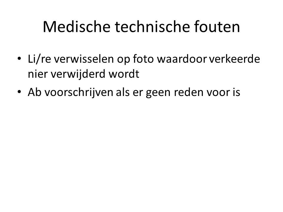Medische technische fouten