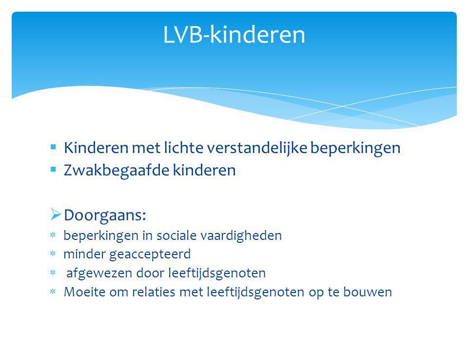 LVB-kinderen Kinderen met lichte verstandelijke beperkingen
