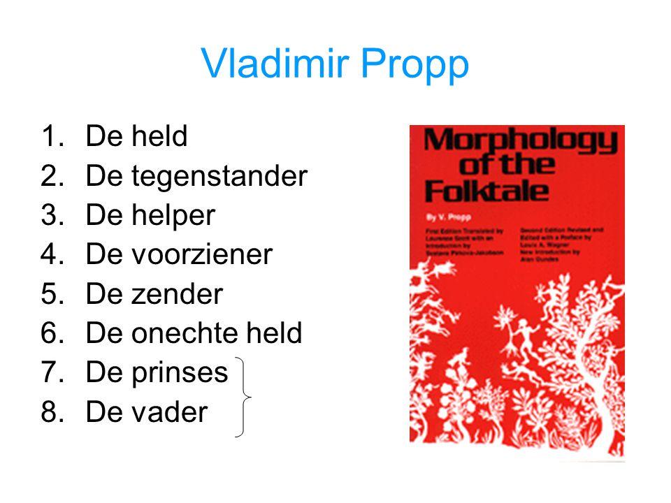 Vladimir Propp De held De tegenstander De helper De voorziener