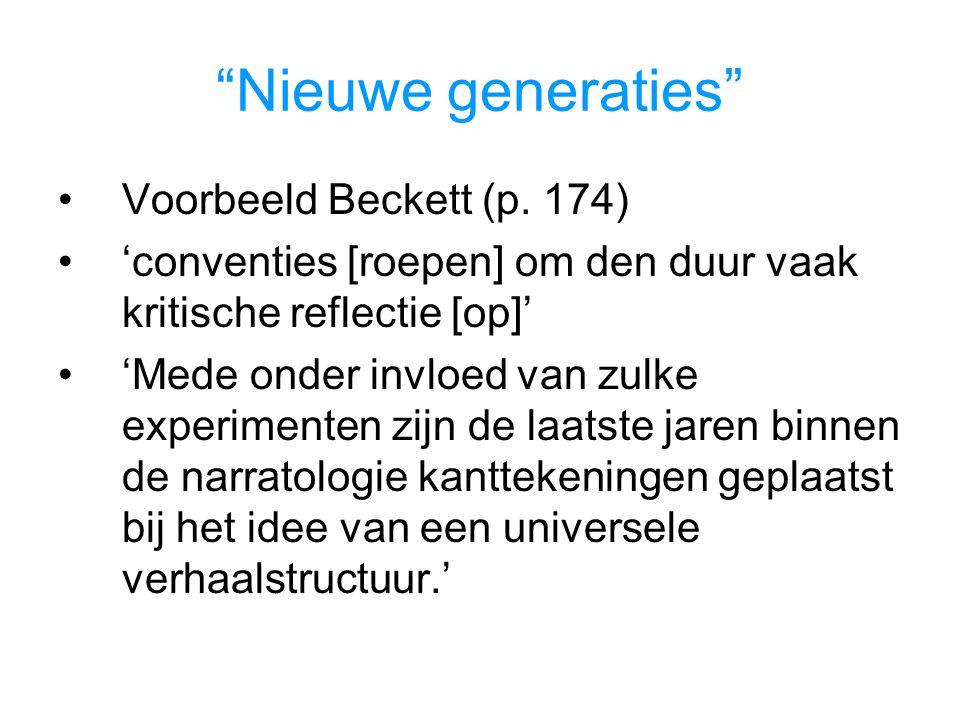 Nieuwe generaties Voorbeeld Beckett (p. 174)