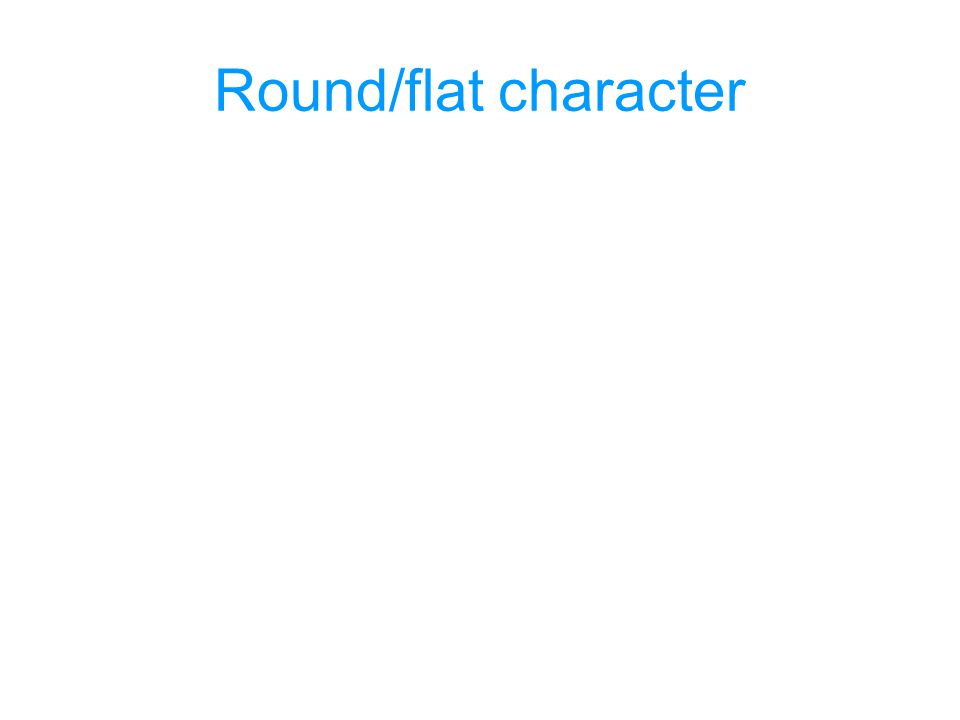 Round/flat character